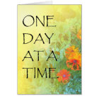 One Day at a Time Lilacs & Poppies Card