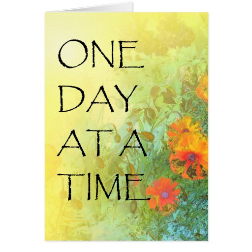 One Day at a Time Lilacs & Poppies Greeting Card