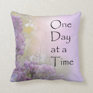 One Day at a Time Lilacs Throw Pillow