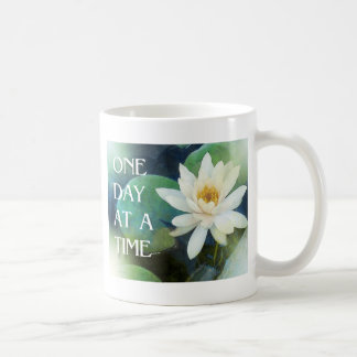 One Day at a Time Lotus One Coffee Mug