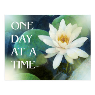 One Day at a Time Lotus One Postcard