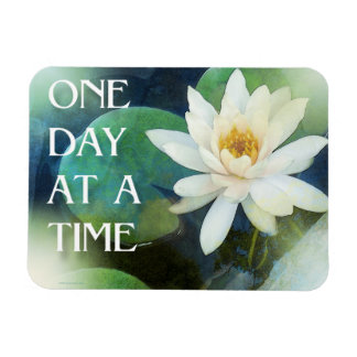 One Day at a Time Lotus One Rectangular Photo Magnet