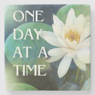 One Day at a Time Lotus One Stone Coaster