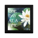 One Day at a Time Lotus One Trinket Boxes