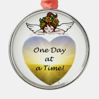 One Day at a Time Metal Ornament