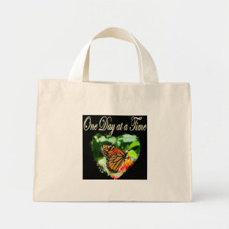ONE DAY AT A TIME MINI TOTE BAG