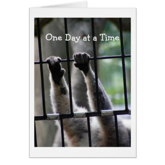 """""""One Day at a Time"""", Motivational Quote Card"""