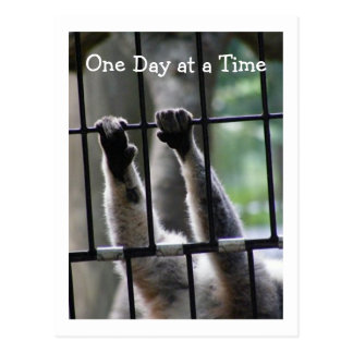 """""""One Day at a Time"""", Motivational Quote Postcard"""