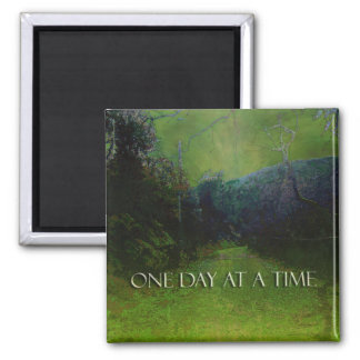 One Day at a Time Mountain Road Green & Blu Magnet