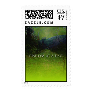One Day at a Time Mountains Green & Blue Postage