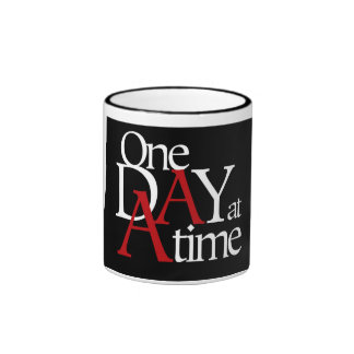 One Day at a Time Ringer Coffee Mug
