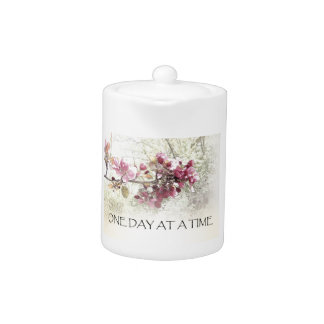 One Day at a Time O.D.A.T. Pink Blossoms Teapot