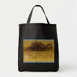 One Day at a Time Oaks by Lake Tote Bags