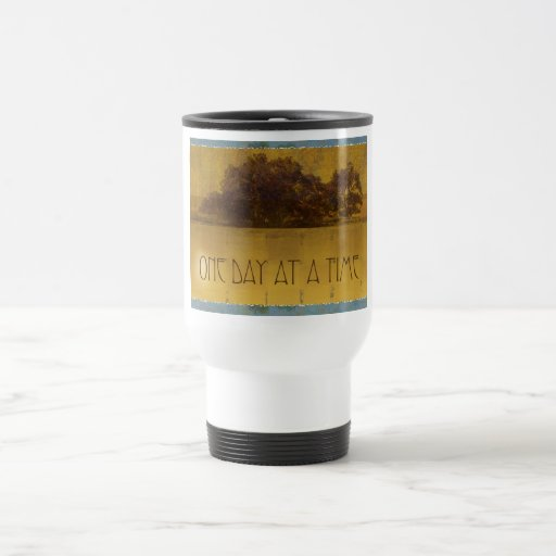 One Day at a Time Oaks by Lake Coffee Mug