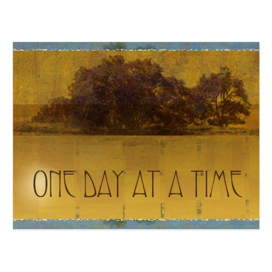 One Day at a Time Oaks by Lake Postcard