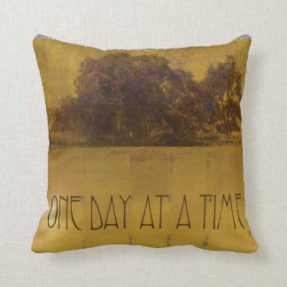 One Day at a Time Oaks by Lake Throw Pillow