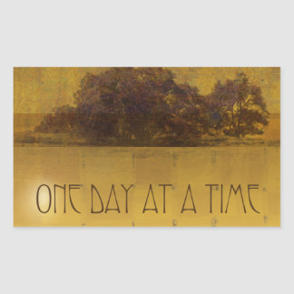 One Day at a Time Oaks by the Lake Rectangular Sticker