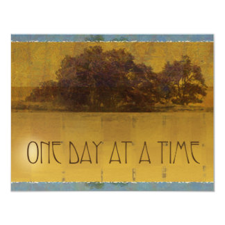 """One Day at a Time Oaks Invitation 4.25"""" X 5.5"""" Invitation Card"""