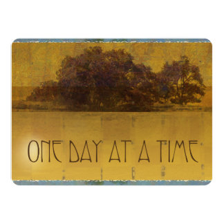 """One Day at a Time Oaks Invitation 5.5"""" X 7.5"""" Invitation Card"""