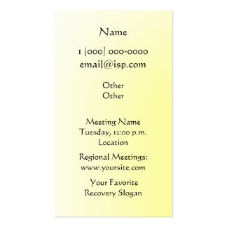 One Day at a Time (ODAT) Irises Business Card Templates