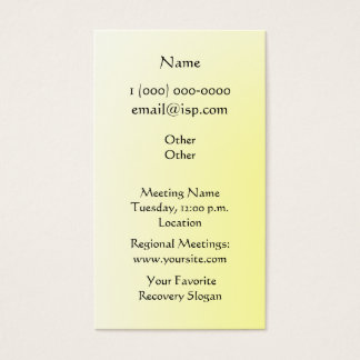 One Day at a Time (ODAT) Irises Business Card