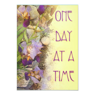 One Day at a Time (ODAT) Irises 5x7 Paper Invitation Card