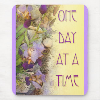 One Day at a Time (ODAT) Irises Mouse Pad