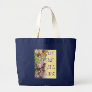 One Day at a Time (ODAT) Irises Nouveau Large Tote Bag