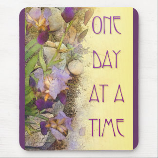 One Day at a Time (ODAT) Irises Nouveau Mouse Pad