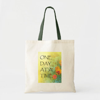 One Day at a Time (ODAT) Lilacs & Poppies Canvas Bag