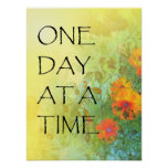 One Day at a Time (ODAT) Lilacs & Poppies Poster