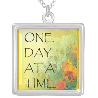 One Day at a Time (ODAT) Lilacs & Poppies Silver Plated Necklace