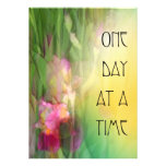 One Day at a Time ODAT Pink and Red Irises Personalized Invites