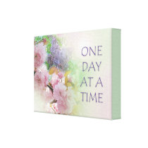 One Day at a Time ODAT Spring Flowers Canvas Print