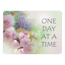 One Day at a Time ODAT Spring Flowers Invitation