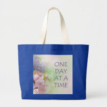 One Day at a Time ODAT Spring Flowers Large Tote Bag