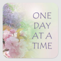 One Day at a Time ODAT Spring Flowers Square Sticker