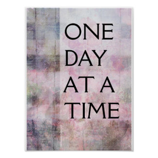 One Day at a Time (ODAT) Woven Abstract Poster