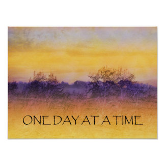 One Day at a Time Orange Purple Field Poster