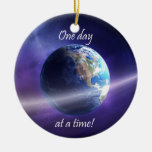 One Day At a Time Double-Sided Ceramic Round Christmas Ornament