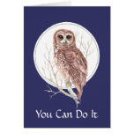 One Day at a Time Owl, Bird, Nature, Wildlife Card