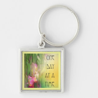 One Day at a Time Pink and Red Irises Key Chains