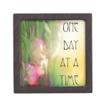One Day at a Time Pink and Red Irises Premium Jewelry Boxes