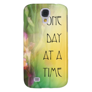 One Day at a Time Pink and Red Irises Samsung Galaxy S4 Case