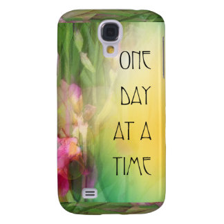 One Day at a Time Pink and Red Irises Samsung Galaxy S4 Cover
