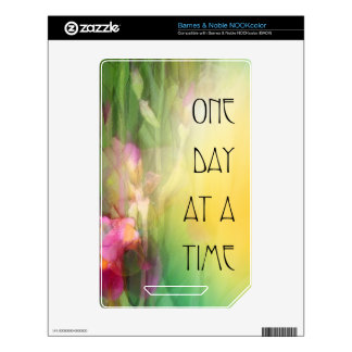One Day at a Time Pink and Red Irises NOOK Color Skin