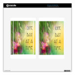 One Day at a Time Pink and Red Irises Kindle Fire Skin