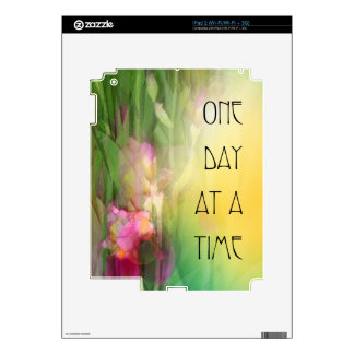 One Day at a Time Pink and Red Irises iPad 2 Decals