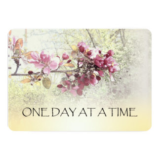 One Day at a Time Pink Blossoms Card