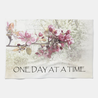 One Day at a Time Pink Blossoms Towel